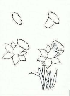 art class ideas easy flower drawings easy to