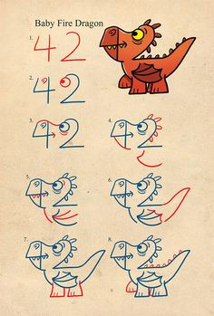 drawing dragons with numbers shop harptoons easy drawings simple cartoon drawings easy dragon