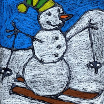 simple snowman drawing