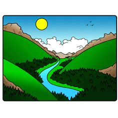 learn how to draw landscapes of different kinds with these simple step by step cartoon drawing