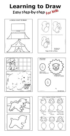 how to draw step by step drawing for kids dozens of pages drawing