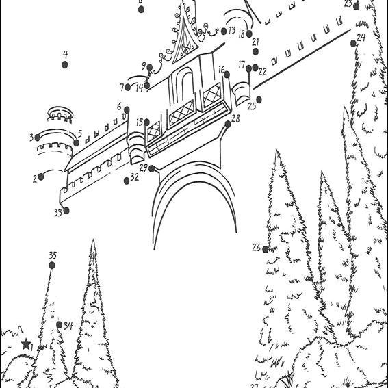 a castle connect the dots
