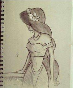 princess jasmine drawing easy disney drawings disney sketches easy pencil drawings cute drawings