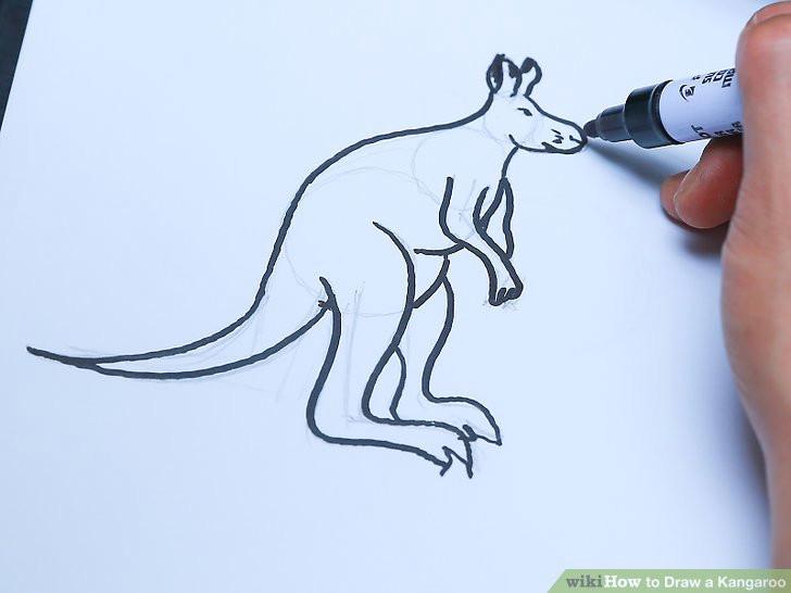 image titled draw a kangaroo step 24