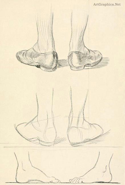 Easy Drawing Kidney Guide to Drawing Feet Beginner Art Tutorial Drawing Drawings