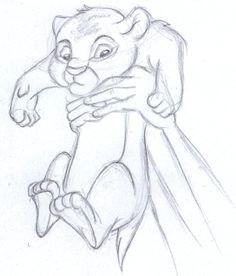 disney sketch baby simba the lion king disney doodles disney sketches drawing