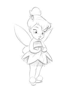 how to draw disney characters how to draw tinkerbell easy step 1 drawing pinterest drawings disney drawings and easy drawings