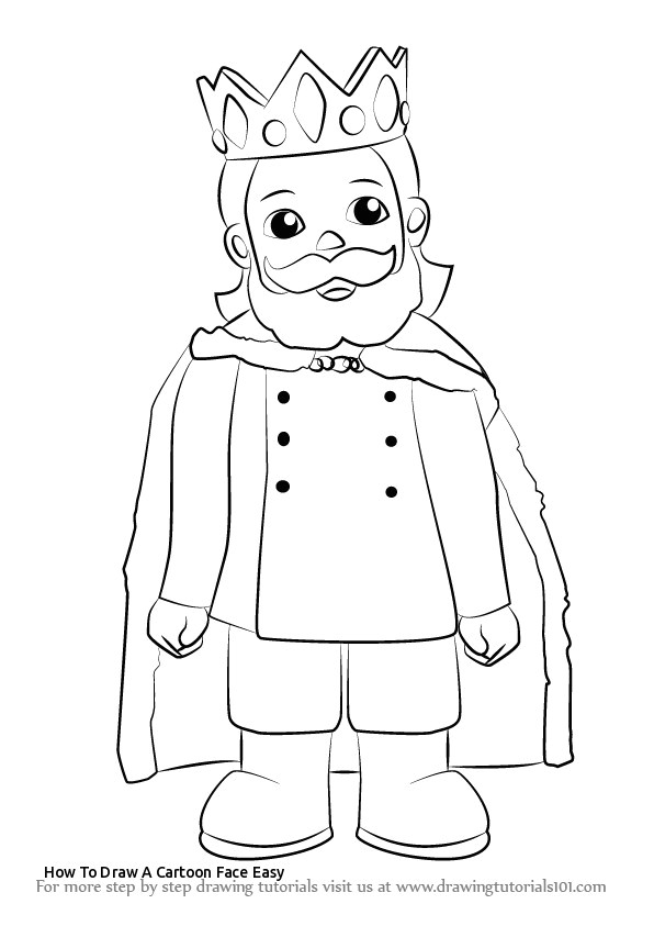 Easy Drawing King How to Draw A Cartoon Face Easy Learn How to Draw King Friday Xiii