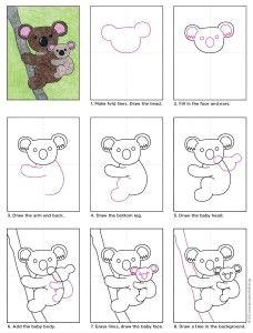 draw a koala bear art projects for kids