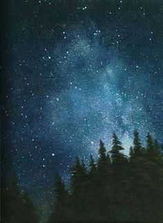 star night wedding by sachie kyogoku on etsy watercolor night sky night sky painting