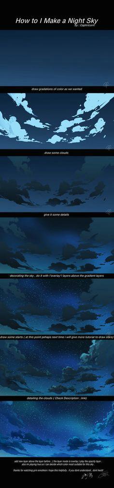 how to i make a night sky
