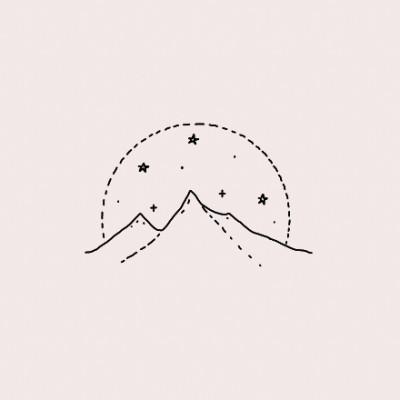 aatre libre bullet journal simple art easy drawings night skies line art