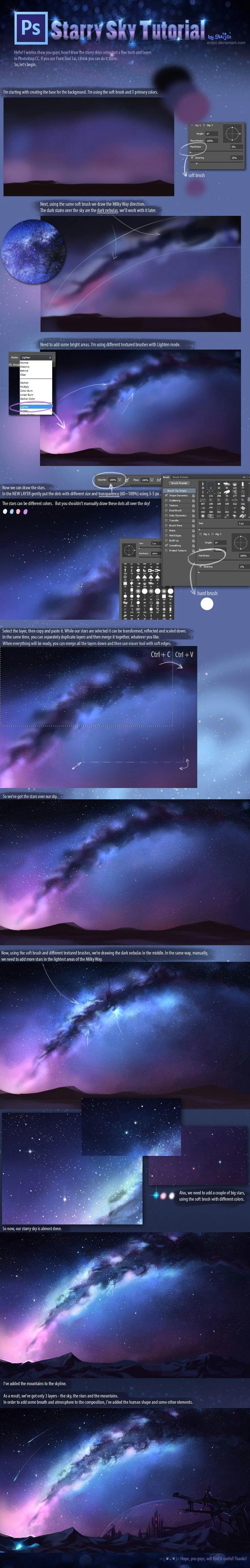 starry sky tutorial by enijoi deviantart com on deviantart