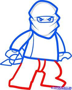 how to draw zane ninjago step by step drawing guide by darkonator