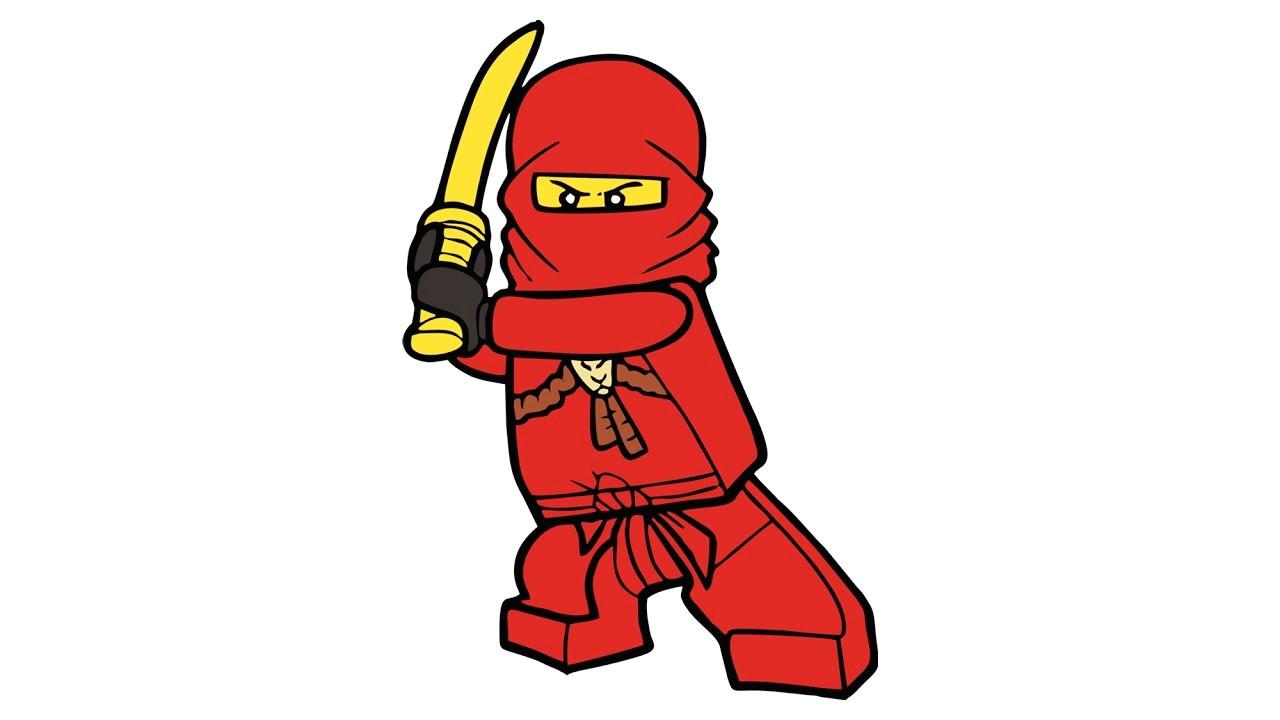 Easy Drawing Ninjago Como Desenhar O Kai De Lego Ninjago Personagem How to Draw Kai