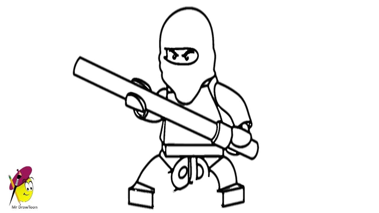 Easy Drawing Ninjago How to Draw Kai Ninjago From Lego Ninjago Youtube