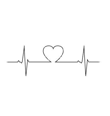 easy drawings a love illustration love heart heart beat in a heartbeat doodle art