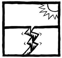 illustration of an earthquake icon