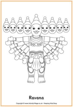 ravana colouring page diwali activities diversity activities diwali story coloring sheets colouring