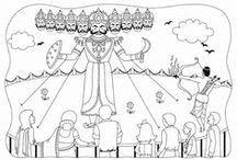 ravan kumbhkaran sketches for kids google search