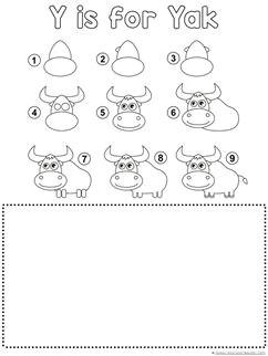 yak drawing tutorial printable