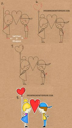step by step drawing tutorial for drawing love word toon word drawings easy drawings