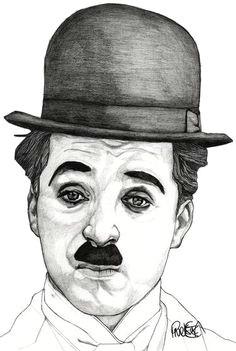 charlie chaplin drawing by paul nelson esch