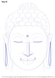 step by step how to draw buddha face drawingtutorials101 com buddha painting yoga