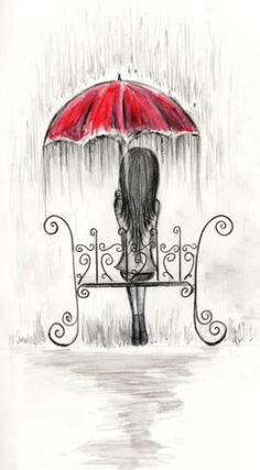 umbrellas quenalbertini sat down under the rain via handbagsandhandguns drawing umbrella drawing rain