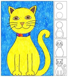 art projects for kids how to draw a cat basic drawing for kids kids