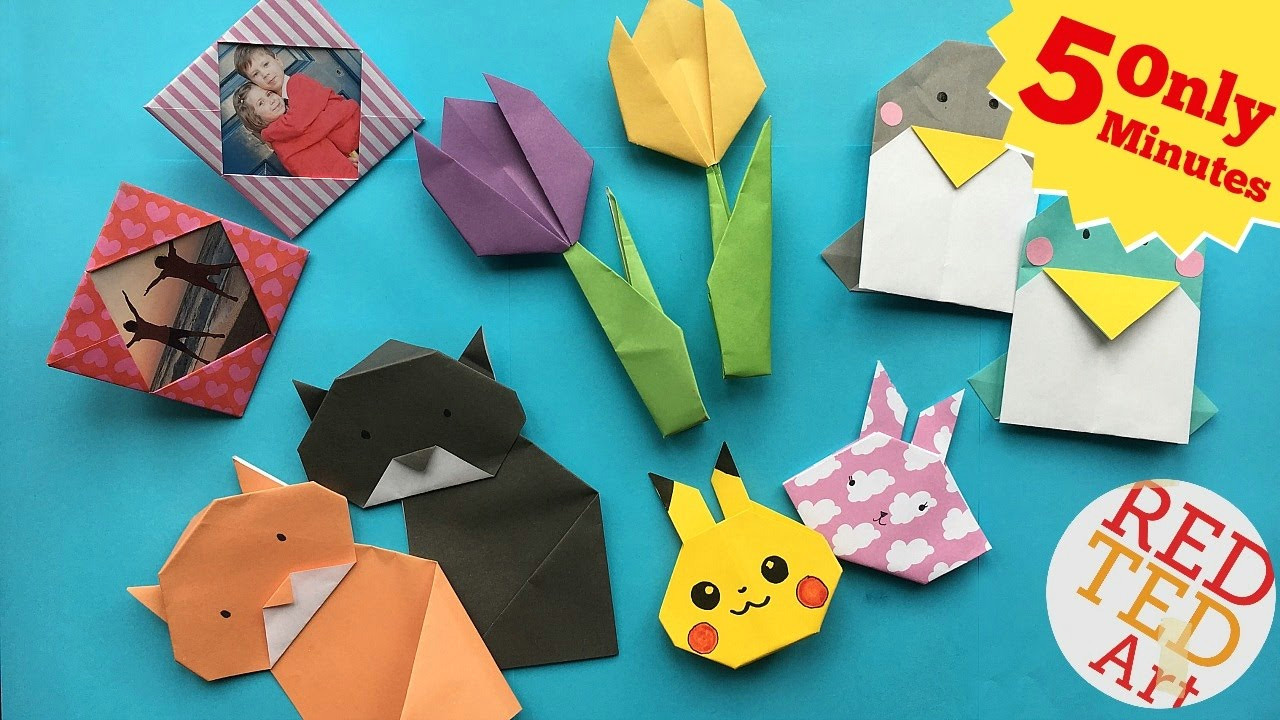 best 5 minute crafts 5 quick easy origami projects easy origami diys