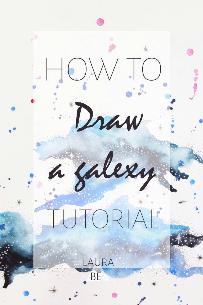 a simple to follow how to tutorial on drawing a galaxy using watercolors