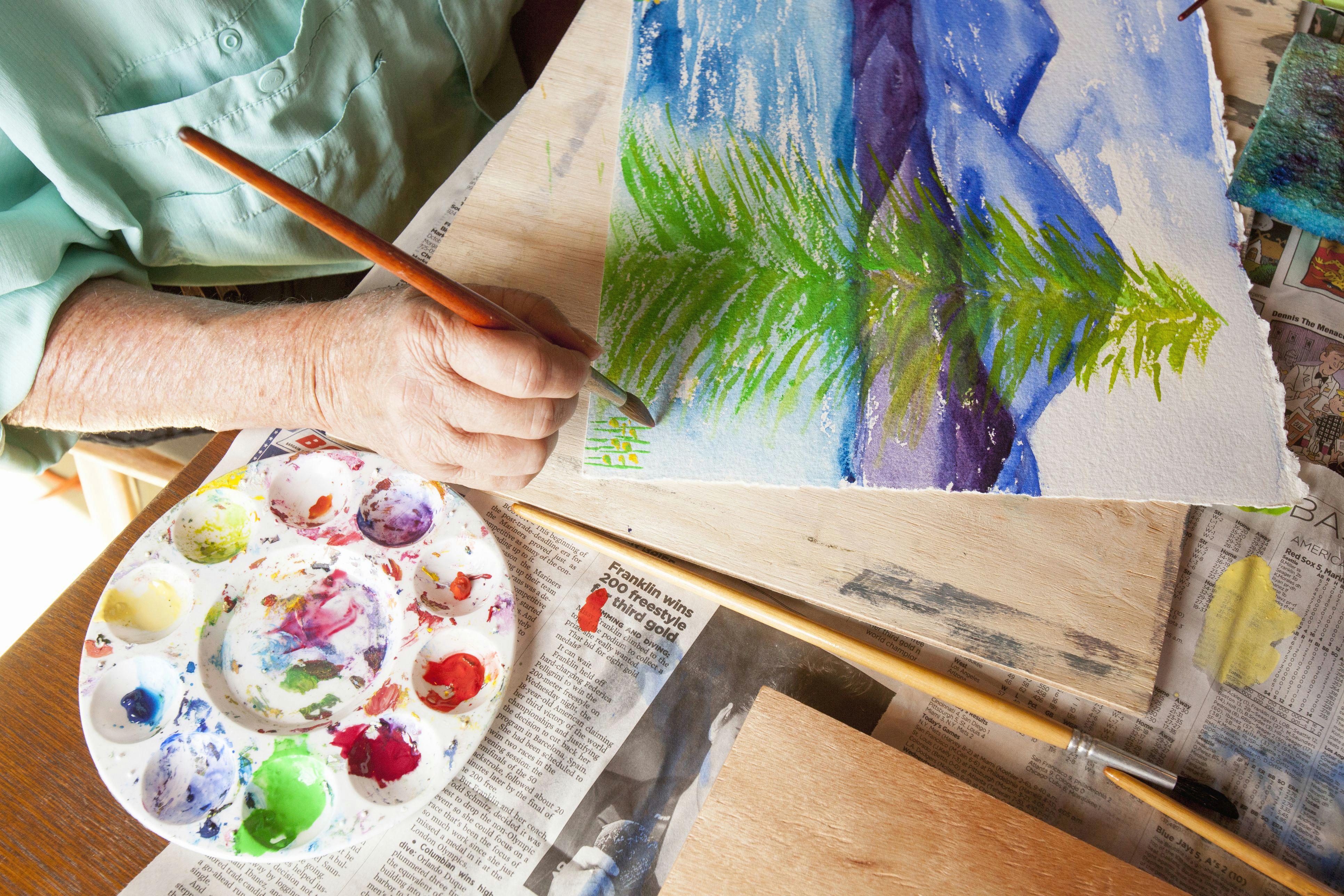 caucasian artist painting watercolor tree 482146187 5aa048691f4e1300370c2ba0 jpg