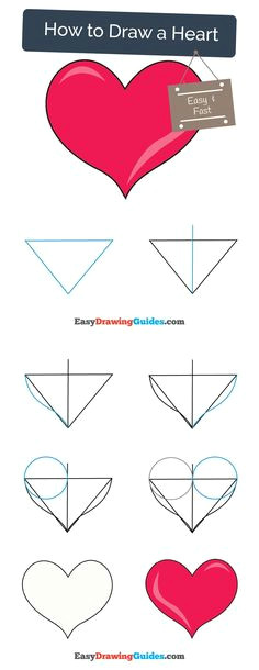 learn how to draw a heart easy step by step drawing tutorial for