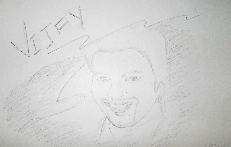 ilayathalapathy vijay drawing