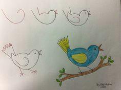 easy bluebird bird drawings easy drawings animal drawings drawing animals drawing for
