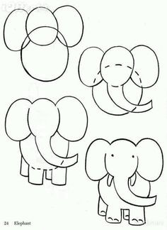how to draw cartoon elephant art lessons drawing lessons drawing tips painting
