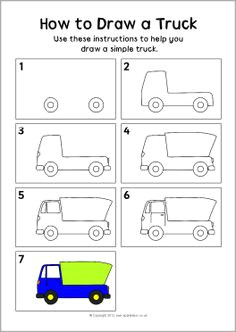 how to draw a truck instruction sheet sb8290