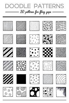 30 patterns for doodling filling gaps easy drawing