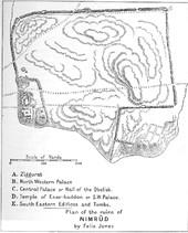 plan of nimrud by felix jones bef 1920