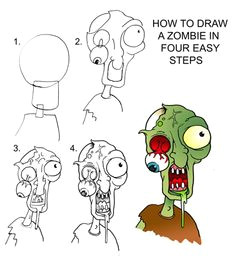 drawing zombies daryl hobson artwork how to draw a zombie step by step easy