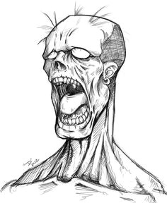 image result for zombie drawing