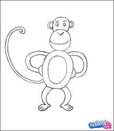 draw a monkey 4 simple steps