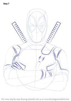 how to draw deadpool drawingtutorials101 com learn drawing learn to draw drawing