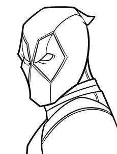 drawing deadpool easy step 6 easy cartoon drawings easy drawings pencil drawings batman