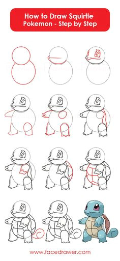 you like the cute squirtle pokemon learn how to draw squirtle from poke squirlte owais afroz a easy drawing steps