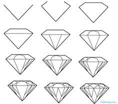 Easy Drawings Diamond 85 Best Diamond Images Diamond Drawing Diamond Sketch Drawing