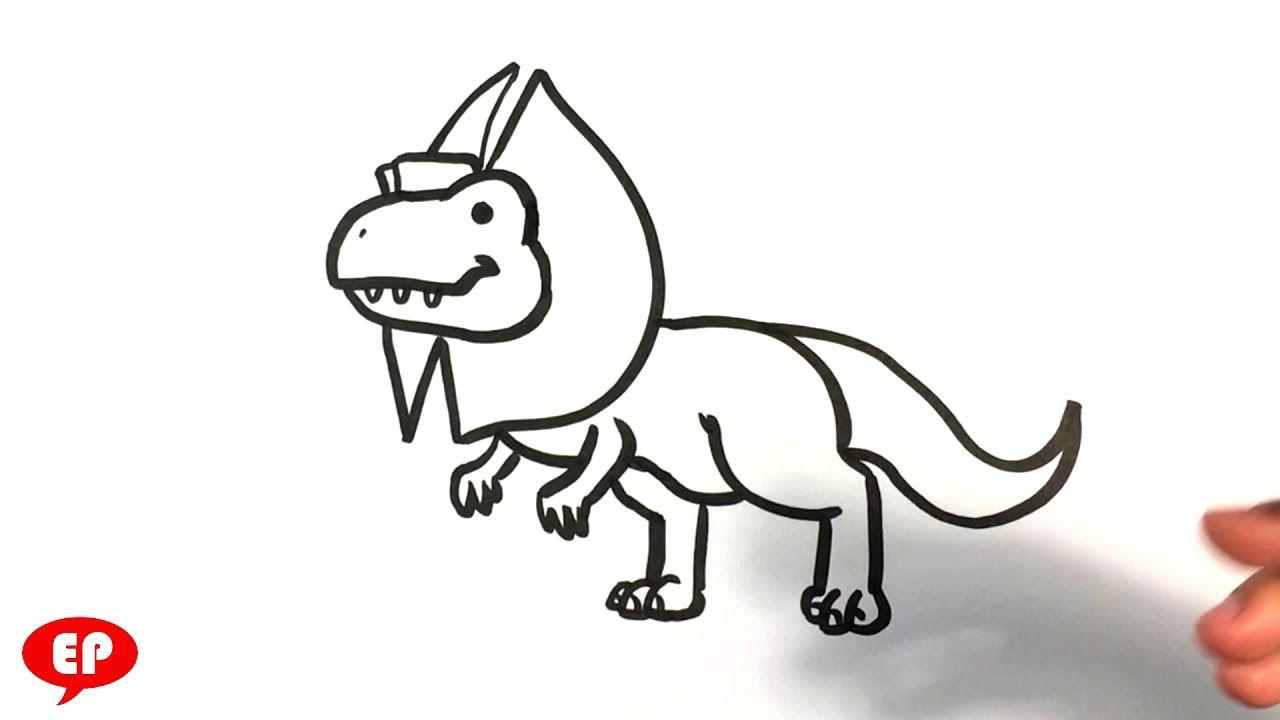 how to draw a cute dinosaur dilophosaurus easy pictures to draw arttutorials arttutorialsonline arttutorialsforfree learntodraweasystuff
