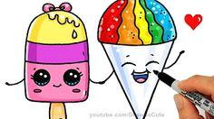 how to draw an ice cream cute easy como dibujar un helado kawaii