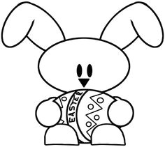 how to draw a baby bunny holding an easter egg drawing tutorial for kids